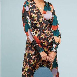 Anthropologie Latona Wrap Dress by Atelier